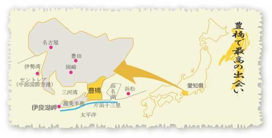 豊橋の地図